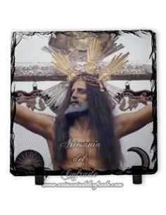 Pizarra cuadrada del Cristo de la Expiración de Jerez de la Ftra