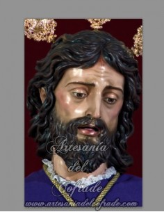 Azulejo rectangular de Nuestro Padre Jesús de la Paz de Sevilla