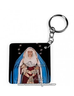 Llavero Cuadrado de la Virgen de la Esperanza Macarena de Sevilla