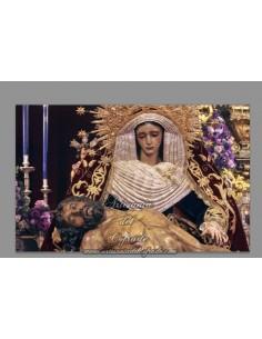 Azulejo rectangular de Nuestra Señora de la Piedad de Sevilla