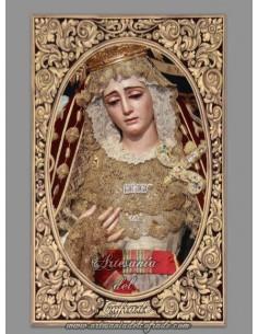 Azulejo rectangular de la Virgen de la Victoria de Sevilla