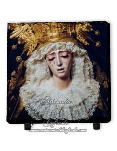 Pizarra cuadrada con la Virgen de la Estrella de Sevilla