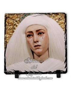 Pizarra cuadrada con la Virgen de las Aguas de Sevilla