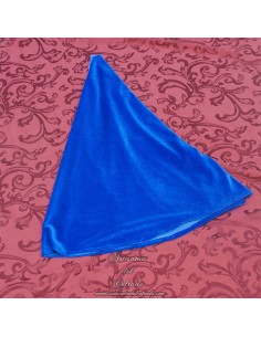 Manto terciopelo azul para Virgen de 60 ctm