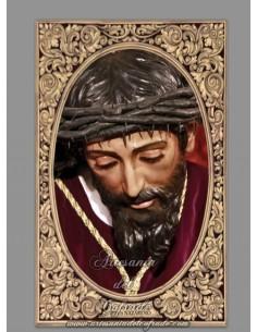 Azulejo rectangular de Nuestro Padre Jesús Nazareno de la O de Sevilla