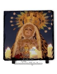 Pizarra cuadrada de la Virgen de los Dolores de Córdoba