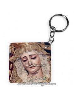 Llavero Cuadrado de la Virgen de la Victoria de Sevilla