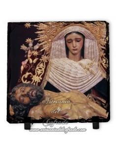 Pizarra cuadrada de la Virgen de la Piedad del Baratillo de Sevilla