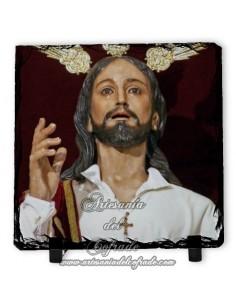Bonita Pizarra cuadrada del Cristo de la Borriquita de Córdoba