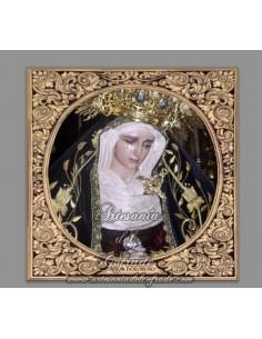 Azulejo cuadrado de la Virgen del Amor Doloroso (Hermandad de Pasion,Malaga)