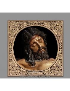 Precioso Azulejo cuadrado del Cristo de la Buena Muerte de Sevilla