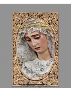 Azulejo rectangular de la Virgen del Buen Fin (Hermandad de la Lanzada, Sevilla)