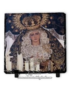 Bonita pizarra cuadrada de la Virgen de la Hiniesta de Sevilla