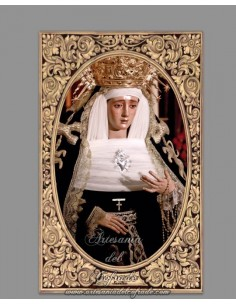 Azulejo rectangular de la Virgen de Montserrat de Sevilla