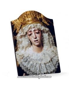 Capilla Placa madera de la Virgen de la Estrella