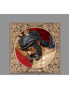 Azulejo cuadrado del Cristo de la Sagrada Lanzada de Sevilla