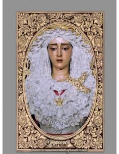 Azulejo rectangular de la Virgen de la Caridad (Cofradía del Baratillo de Sevilla)