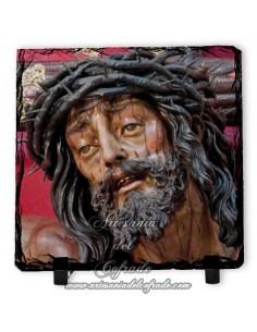 Pizarra cuadrada del Cristo de la Agonia de Malaga