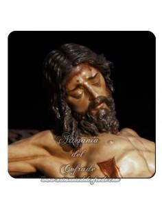 Imán cuadrado de  plastico del Cristo de la Buena Muerte (Los Estudiantes,Sevilla)