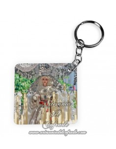 Llavero Cuadrado de la Virgen de la Paz de Sevilla
