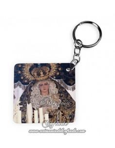 Llavero Cuadrado de la Virgen de la Hiniesta de Sevilla