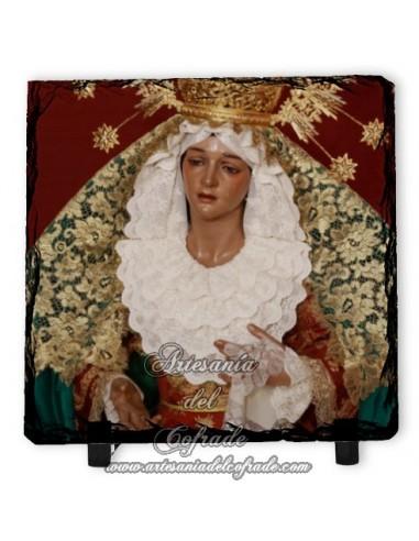 Pizarra cuadrada de la Virgen de la Esperanza de Málaga