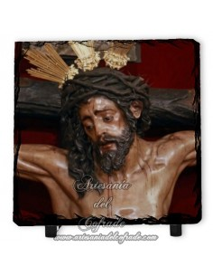 Bonita Pizarra cuadrada del Cristo de la Conversión (Montserrat, Sevilla)