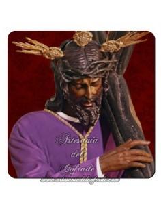 Imán cuadrado de  plástico de Nuestro Padre Jesús de la Salud (Los Gitanos,Sevilla)