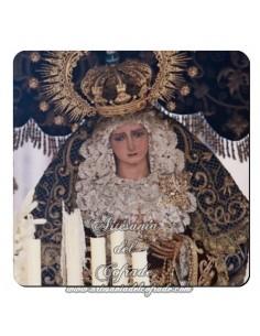 Imán cuadrado de  plástico de la Virgen de la Hiniesta