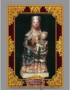 Azulejo rectangular de la Virgen de Aguas Santas en venta solo en nuestra Tienda Online Cofrade