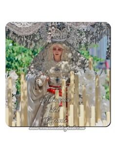 Imán cuadrado de  plastico de la Virgen de la Paz de Sevilla