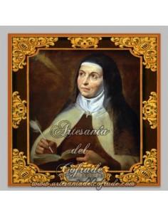 Azulejo cuadrado de Santa Teresa de Jesús