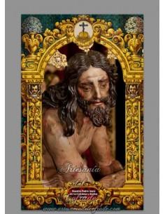 Azulejo rectangular de Nuestro Padre Jesús de la Columna y Azotes de Sevilla
