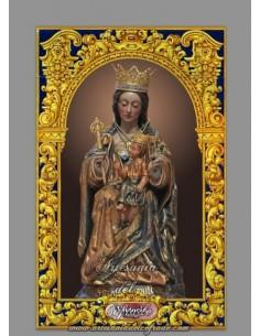 Azulejo rectangular de la Virgen de la Victoria (Patrona de Málaga)