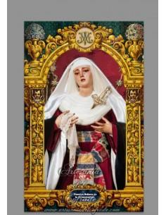 Azulejo rectangular de Ntra. Señora de la Presentación de Sevilla