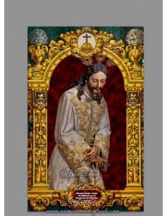 Azulejo de Nuestro Padre Jesús del Silencio en el Desprecio de Herodes de Sevilla