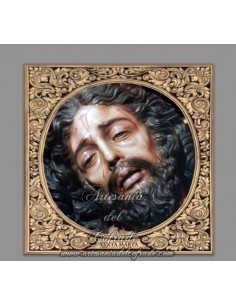Azulejo cuadrado con el cristo de Santa Marta de Sevilla