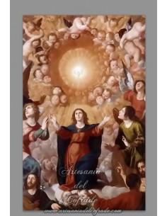 Se vende cerámica rectangular de la Ascensión de la Virgen María - Tienda de Productos Religiosos