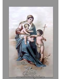 Se vende esta cerámica de la Virgen Maria con el Niño Jesus y San Juanito - Tienda Cofrade