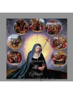 Azulejo cuadrado de los Dolores de Maria