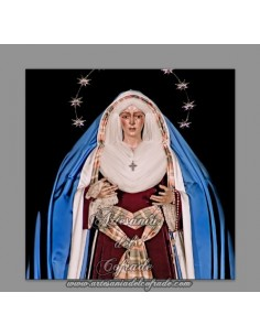 Se vende baldosa de cerámica de la Virgen de la Macarena de Sevilla vestida de hebrea