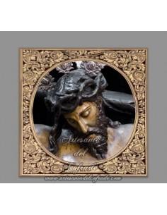Azulejo cuadrado del Santo Cristo de la Salud de Cordoba