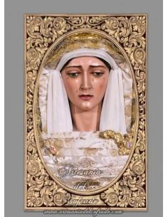 Azulejo rectangular de la Virgen de la Consolación (Sevilla)