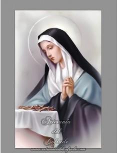 Azulejo rectangular de la Virgen Dolorosa y corona de espinas
