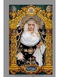 Azulejo rectangular de la Virgen de Gracia y Amparo de Sevilla - Tienda Cofrade de Sevilla