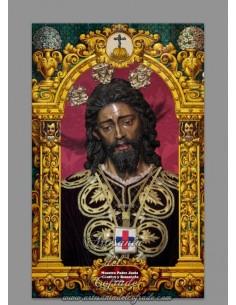 Azulejo rectangular de Ntro Padre Jesús Cautivo y Rescatado de Sevilla