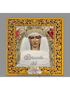 Se vende cerámica cuadrada de la virgen del Dulce Nombre de Sevilla - Tienda Cofrade online
