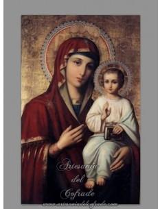 Se vende esta bonita cerámica con la Virgen Maria y el niño Jesús - Tienda Religiosa