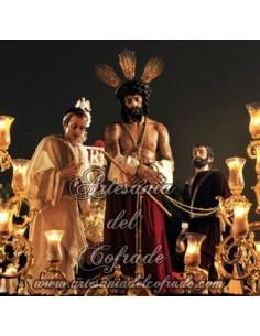 Azulejo cuadrado del Cristo de la Humildad de Malaga