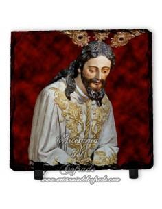 Pizarra cuadrada de Nuestro Padre Jesús del Silencio en el Desprecio de Herodes